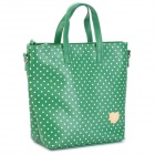 BANI RABBIT Polka Dot Pattern Lady&#039;s PU Leather Shoulder / Hand / Aslant Bag - Green