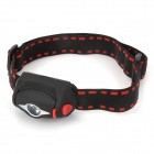 348lm 3-Mode Cold White Light Headlamp - Black (3*AAA)
