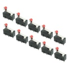 20515 Electrics Microswitch w/ Lever Roller - Black + Silver (10 PCS)