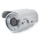 TS-958X-YS Water Resistant 1/3&quot; CCD Surveillance Security Camera w/ 6-LED IR Night Vision - Silver