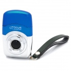 FOCUS JD-FO62 Creative Camera Style Windproof Butane Jet Lighter w/ Strap - Blue + Silver
