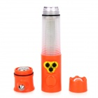 Multifunction Car Alarm Security Emergency Hammer w/ Seat Belt Cutter / Flashlight - Orange (2 x AA)