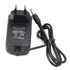 12V 2A EU Plug Power Adapter - Black (100~240V / 5.5 x 2.1mm)