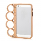 ZH-03 Rings Style Protective Plastic + PC Plating Frame for iPhone 5 - Golden