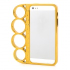 ZH-04 Rings Style Protective Plastic + PC Plating Frame for iPhone 5 - Champagne Gold