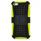 Square Grid Pattern Protective Plastic Back Case w/ Stand for Iphone 5 - Green + Black