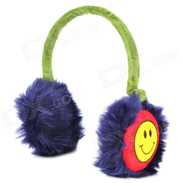ANYYHAT Rabbit Fur Style Warm Earmuffs for Kids - Green + Deep Blue + Red new anti noise impact sport hunting electronic tactical earmuff shooting ear protectors hearing protection earmuffs