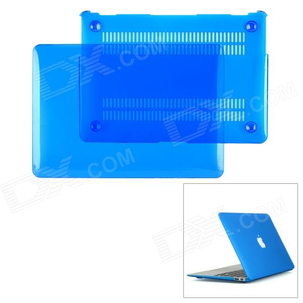 Protective Top Flip Open Case Cover for Mac Book Air 11.6 - Transparent Blue