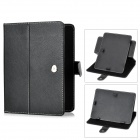 "Protective Swivel PU Leather Case Cover for 8"" Tablet w/ Touch Screen Stylus Pen - Black"