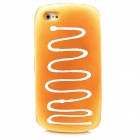 Cream Bread Style Protective Sponge Back Case for Iphone 5 - Brown Yellow
