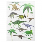 Decorative Dinosaurs Style PVC Wall Paper Sticker - Green + Blue + Brown (50 x 70cm)