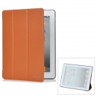 KINGSONS KS3033U Protective Smart Leather Cover for iPad 2 / the New iPad- Brown