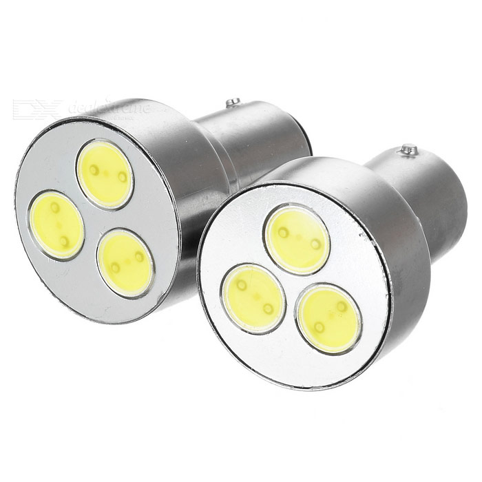 Auto Steering Wit Licht 3-LED 1.5W DC12V (2-pack) metalen behuizing