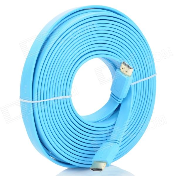 HDMI V1.4 Male to Male Flat Cable - Blue
