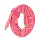 Flat HDMI Male to HDMI V1.4 Male Adapter Cable - Pink (300cm)