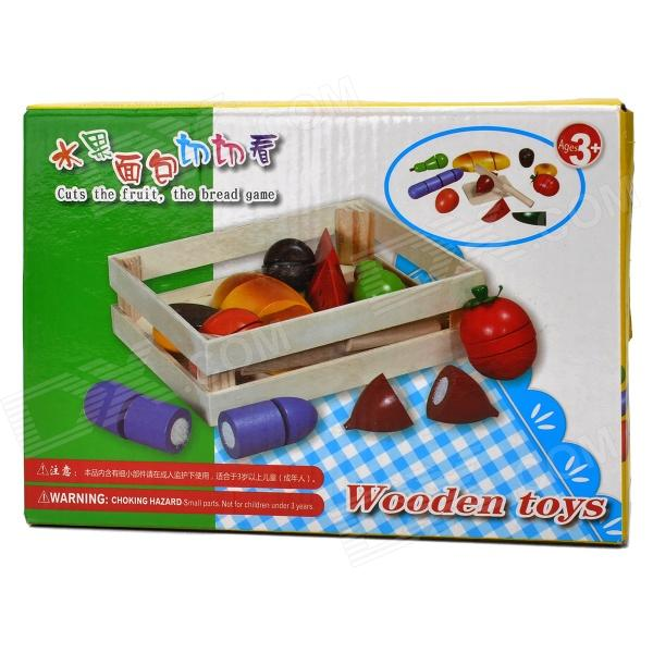KY-A803 Cuts The Fruit / Bread Game Wooden Toys - Multicolored