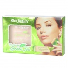 KISS BEAUTY 1# SPF25 Green Tea Natural Pressed Powder w/ Puff - Ivory White