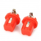 B8.5 0.18W 8~10lm 2-SMD 3528 LED Red Light Car Instrument Lamps - Red (2 PCS)