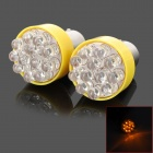 1156 0.8W 60lm 12-LED Yellow Light Car Steering Lamps - Silver + Yellow (2 PCS)