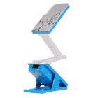 Rechargeable Clip-On 1.8W 24-LED 2-Mode White Light Folding Desk Lamp