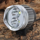 New-355 Cree XM-L T6 + XP-G R5 1160lm 3-Mode White Headlamp - Silver + Grey (4 x 18650)