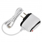 Power Charger Adapter w/ Cable for iPhone 5 - White (US Plug)