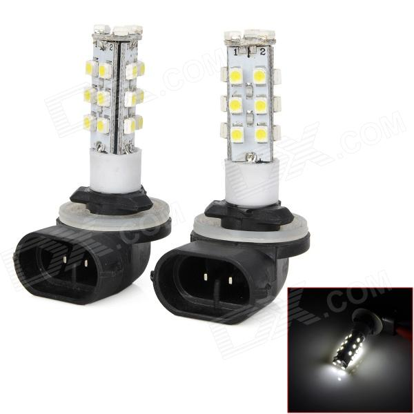 LY150 2.1W 147lm 21-SMD 1210 LED White Light 2-Mode Car Foglights - Black + Yellow + White (2 PCS)