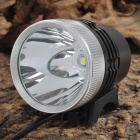 YP-3011A Cree XM-L T6 950lm 3-Mode Flat Head White Headlamp Bike Light - Black + Silver (4 x 18650)