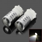 LY100 7443 5W 180lm CREE XP-E R3 White Light Car Backup / Brake Lamps - Silver + White (2 PCS)