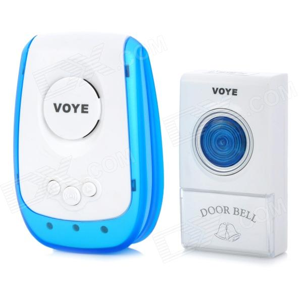 Wireless Remote Control 38 Chore Music Doorbell - White + Blue