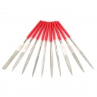 Alloy Steel Files Tool Set - Silver + Red (10 PCS)