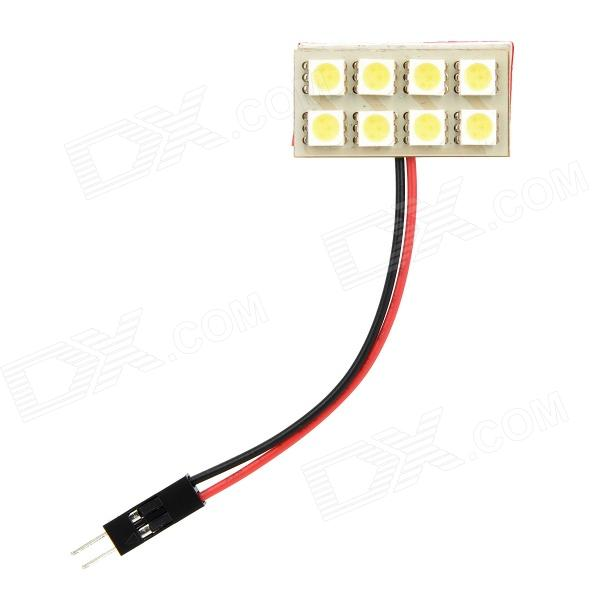 LY155 T10 / BA9S / Festoon 42mm 2.4W 80lm 8-SMD 5050 LED White Light Car Reading / Room Lamp - (12V) t10 32mm 42mm festoon 3 6w 124lm epistar 36 cob led white car reading light dc 12 24v