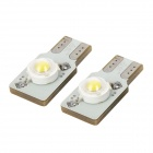 PointPurple Highlight F9001WW T10 1W 90lm 6500k LED White Light Car Lamp Bulbs - White (12V / 2 PCS)