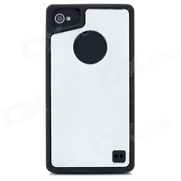 Baseus SMAPIH4S-01 Protective Silicone + Aluminum Back Case for Iphone 4 / 4S - Black + Silver