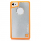 Baseus SMAPIH4S-07 Protective Silicone + Aluminum Back Case for Iphone 4 / 4S - Orange + Silver