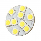 G4 1.6W 117lm 6500K 9-SMD 5050 LED White Light Bulb - White + Yellow (DC 12V)