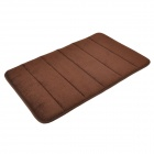 BaiYiShangPin R1G40X60 Anti-Slip Water Absorption Acrylic Fibre Sponge Floor Mat - Coffee