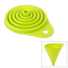 M-FUN MEL0292 Mini Collapsible Silicone Funnel - Green