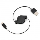 Retractable USB Stecker auf 8-Pin Lightning Data Charging Cable - Black (max. 80cm)