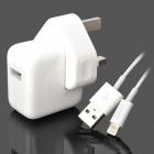 Power Charger Adapter w/ Lightning Charging Cable for iPad Mini - White (UK Plug) 