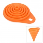 M-FUN MEL0291 Mini Collapsible Silicone Funnel - Orange