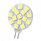 G4 2.7W 195lm 6500K 15-SMD 5050 LED White Light Bulb - White + Yellow (DC 12V)