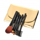 MEGAGA 101# Professional Cosmetic Makeup 5-in-1 Brushes Set - Golden + Black