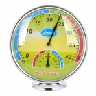 Wall Mounted / Table Thermometer / Hygrometer - Green Yellow + Silver