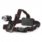 068B Cree XM-L T6 600lm 3-Mode White Zooming Headlamp - Black + Silver (1 x 18650 / 2 x 18650)