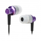 KAERNI KE-200 Stilvolle In-Ear Earphones - Purple + Black + Silver (3,5 mm Klinkenstecker / 138cm)