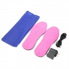 USB Charging Keeping Warm Heating Insole Shoe Pads - Pink (Size 35~40 / Pair)