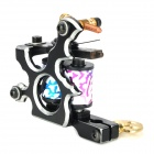 97193 Professional Cool Pattern Cast Iron Alloy Tattoo Machine Liner Shader Gun - Black