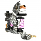 97192 Professional Cool Pattern Cast Iron Alloy Tattoo Machine Liner Shader Gun - Black + White