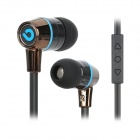 BIDENUO G360 Stylish In-Ear Earphones w/ Microphone - Blue + Black (3.5mm Plug / 127cm)